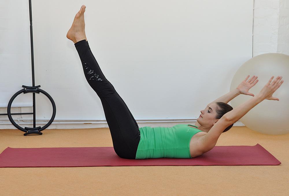 Verbesserte Körper Haltung beim Fitness Training